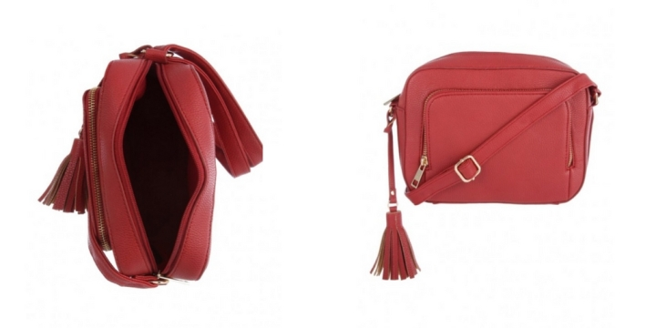 Red over the shoulder bag suitable as plus size accessory